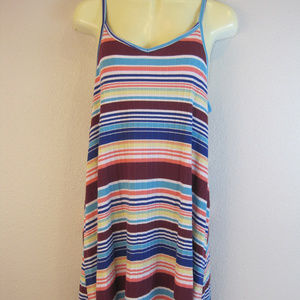 Mossimo small striped ribbed tank dress